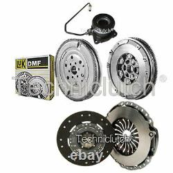 2 Part Kit Clutch And Luk Dmf With Csc For Opel Astra H Hayon 2.0 Turbo De