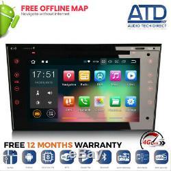7 Black Android 9.0 Gps Sat Nav Dab Radio For Opel Astra Mk5 Corsa C D Vxr