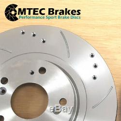 Astra Zafira Vxr 2.0t 05- Front Disc Brake Pads Grooved Perforated Improved Mtec