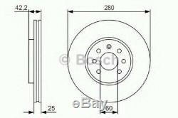 Bosch Front Brake Discs & Pads Set For Opel Astra Vxr 2009-2010 V 2.0
