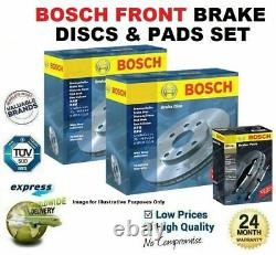 Bosch Front Brake Discs - Set Plates For Opel Astra V 2.0 Vxr