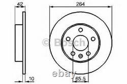 Bosch Rear Axle Brake Discs - Set Plates For Opel Astra IV V 2.0 Vxr