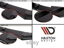 Cup Lip Spoiler Before Approach For Opel Astra Opc / Vxr V. 1 Black Carpet
