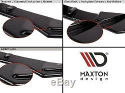 Cup Lip Spoiler Opel Astra Opc / Vxr V. 2 Black Mat