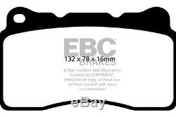 Ebc Red Pads Prior To Opel Astra (j) 2.0 Turbo Vxr 2012-2015 Dp32093c