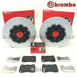 For Opel Astra J Gtc Mk6 Vxr Front Perforated 2-piece Brembo Brake Discs Skates