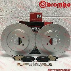 For Opel Astra J Gtc Vxr Rear Perforated Brake Discs Brembo 315mm