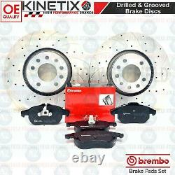 For Vauxhall Astra H Vxr Front Disc Curved Brake Perforated Brembo Skates 321mm