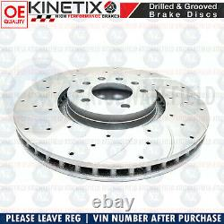 For Vauxhall Astra Vxr 05-11 Front Disc Curved Brake Perforated Mintex Skates