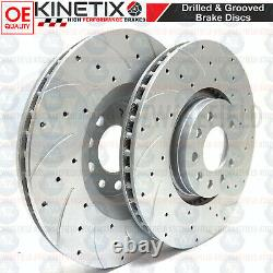 For Vauxhall Astra Vxr 05-11 Front Disc Grooved Brake Perforated Brembo Skates