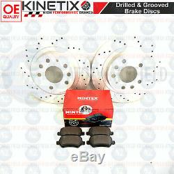 For Vauxhall Astra Vxr 05-11 Rear Disc Brake 278mm Grooved Perforated Mintex
