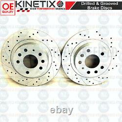 For Vauxhall Astra Vxr 05-11 Rear Disc Brake Curved Perforated Brembo Skates