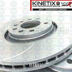For Vauxhall Astra Vxr 2.0 Turbo Front Disk Grooved Brake Half Brembo Pads