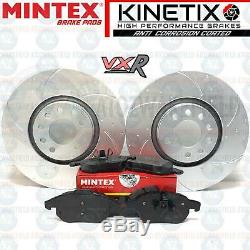 For Vauxhall Astra Vxr Front Disc Brake Pads Grooved Alveole Mintex 321mm