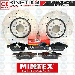 For Vauxhall Astra Vxr H Before Disc Brake Pads Grooved 321mm Perforated Mintex
