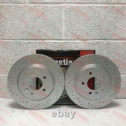 For Vauxhall Opel Astra J Gtc Vxr Rear Perforated Brake Discs Brembo Skates