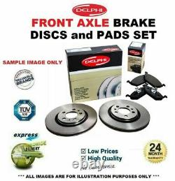 Front Axle Brake Disc Set + Pads For Opel Astra Gtc 2.0 Vxr 2012-