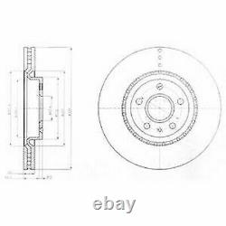 Front Axle Brake Disc Set + Pads For Opel Astra Gtc 2.0 Vxr 2012