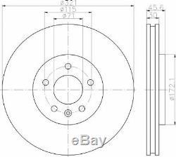 Mintex Front Axle Brake Discs + Pads Set For Opel Astra Gtc 2.0 Vxr