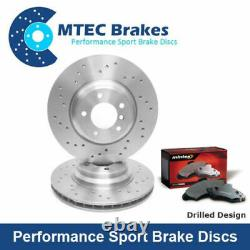 Opel Astra Gtc Vxr Drilled Rear Brake Discs & Only Mintex Skates