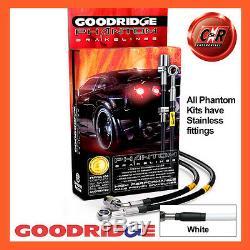 Opel Astra H 04-12 Vxr Goodridge Stainless Brake Hoses White Sva1300-6c-wt