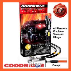 Opel Astra H 04-12 Vxr Goodridge Stainless Steel Brake Hoses Orange Sva1300-6c-or