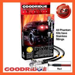 Opel Astra Mk5 2.0t Vxr 05-11 Ss Red Goodridge Brake Durites Sva1300-6c-rd