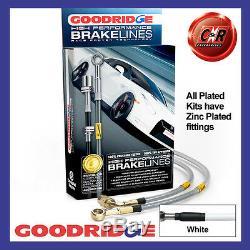 Opel Astra Vxr 13 Is Plated White Goodridge Brake Hoses Sva1350-4p-wt