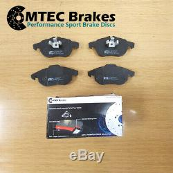 Opel Astra Vxr 2.0t 16v Mk5 Front Rear Disc Brake Pads Grooved Perforated Mtec