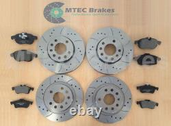Opel Astra Vxr 2.0t Mk5 Front Rear Disc Brake Curved Perforated Mintex Skates