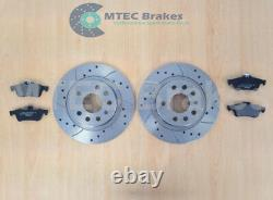 Opel Astra Vxr Mk5 2.0t Front Rear Disc Brake Pads Grooved Perforated Mintex