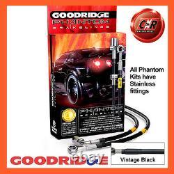 Opel Astra'j' Vxr 13 On Goodridge Steel Inoxered V. Black Brake Durites