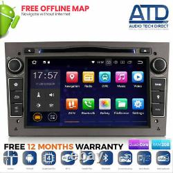 7 Gris Android 10.0 Sat Nav GPS Wifi DAB BT Radio Pour Opel Astra H Mk5 Vxr