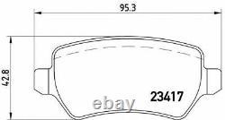 BREMBO Avant + Essieu Arrière Plaquettes de Frein Set pour Opel Astra 2.0 Vxr