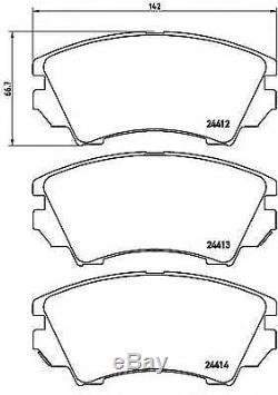 BREMBO Essieu Avant Frein Disques + Set Plaquettes Pour Opel Astra GTC 2.0 Vxr