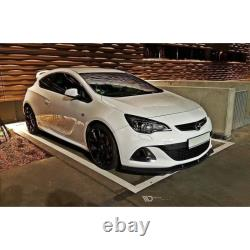 Lame Du Pare-Chocs Avant Opel Astra J Opc / Vxr V. 1 Gloss Black