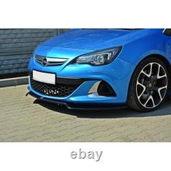 Lame Du Pare-Chocs Avant Opel Astra J Opc / Vxr V. 2 Gloss Black