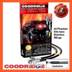 Opel Astra H Vxr 04-12 Goodridge Inox Carbo Durites de Frein SVA1300-6C-CB