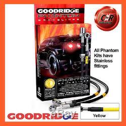 Opel Astra H Vxr 04-12 Goodridge Inox Jaune Durites de Frein SVA1300-6C-YE