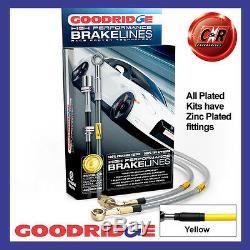 Opel Astra H Vxr 04-12 Goodridge Plaqué Jaune Frein Durites SVA1300-6P-YE