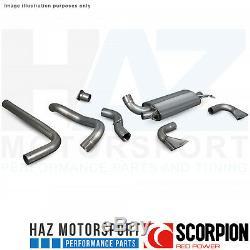 Opel Astra J Vxr 12-17 Scorpion 3 Non-Res Catback Échappement Poli Pour