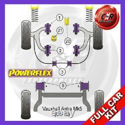 Opel Astra MK5 H (04-10) 1 Pièce Fr Arb Bush 2.0L Incl Vxr Powerflex Full Kit