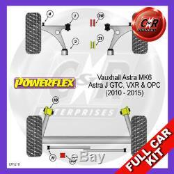 Opel Astra MK6-Astra J GTC, VXR & OPC (10-15) Powerflex Bush Complet Kit