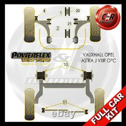 Opel Astra MK6 Vxr Et OPC 10 Powerflex Noir Complet Bush Kit