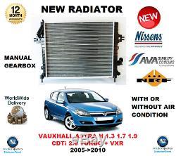 Pour Opel Astra H 1.3 1.7 1.9 CDTI 2.0 Turbo + Vxr 2005- 2010 Neuf Radiateur