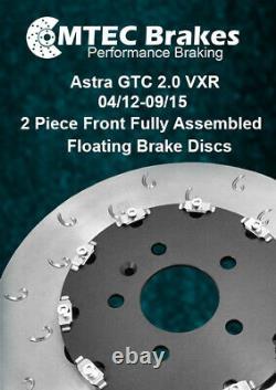 Pour Opel Astra J GTC MK6 Vxr Avant C-Hook 2-PIECE Frein Disques & Mintex Patins