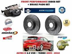 Pour Vauxhall Astra H 2.0 Vxr 2005- avant Frein Performance Ensemble Disques +