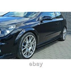 Rajouts Des Bas De Caisse Pour Opel Astra H (for Opc / Vxr) Gloss Black