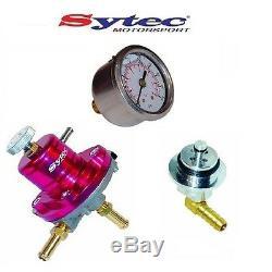 Régulateur de Pression Carburant Sytec Kit +Jauge Opel Astra H Corsa Vxr