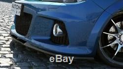 Tasse Lèvre de Spoiler Avant Approche Pour Opel Astra H OPC / Vxr Nurburg Noir